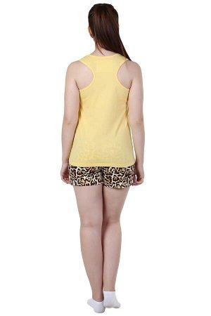 Пижама Энимал Цвет: Желтый. Производитель: Оптима Трикотаж