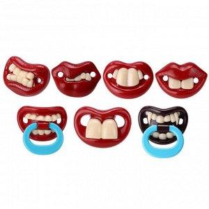 Смешные ортодонтические соски с зубами