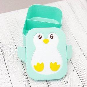 "Ланчбокс ""Пингвин"", green"