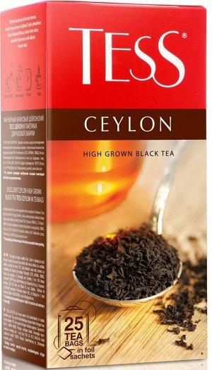 Чай Тесс Ceylon black tea 2г х 25 пакетиков