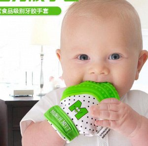 Рукавичка для младенцев для прорезывания зубов