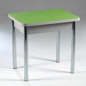 Стол ломберный 790(1180)х590х750, хром/пластик зеленые цветы