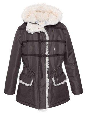 З 20 Куртка - пуховик  для девочки  Антрацит