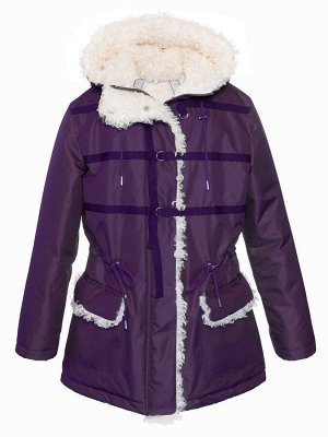 З 20 Куртка - пуховик  для девочки  Пурпурный