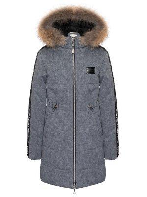 З 20 Пальто - пуховик для девочки Меланж