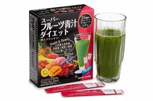 """Витаминно-минеральные комплексы Nihon-yakken Японский напиток """"Аодзиру"""" 15 фруктов+коллаген (30 саше)"""