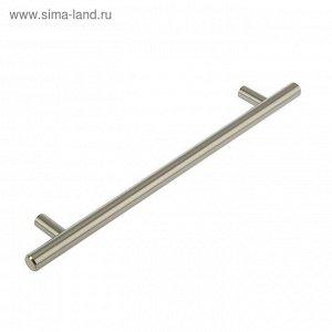 Ручка-рейлинг, d=12 мм, м/о 192 мм, цвет сатиновый никель