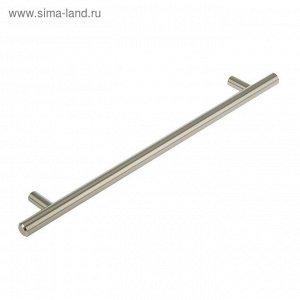Ручка-рейлинг, d=12 мм, м/о 224 мм, цвет сатиновый никель