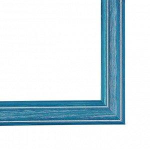 Рама для картин (зеркал) 30 х 40 х 4.2 см. дерево. Polina синяя