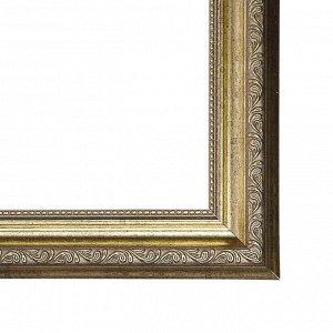 Рама для картин (зеркал) 40 х 50 х 3.3 см. пластиковая. Dorothy серебряная