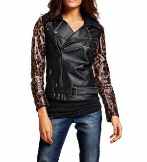 Кожаная куртка, леопардовая