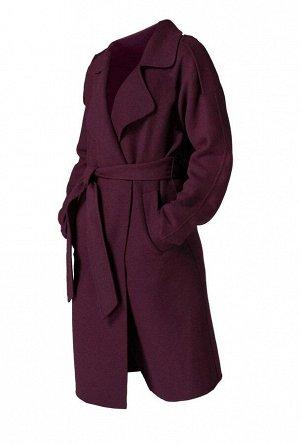 Пальто, бордовое
