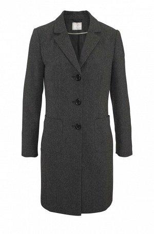 Пальто, серо-черное