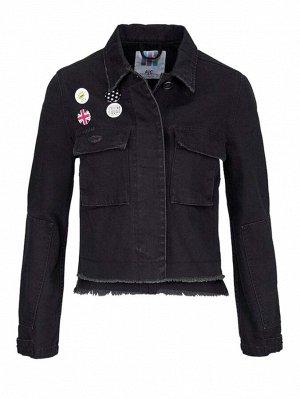 Джинсовая куртка, черная