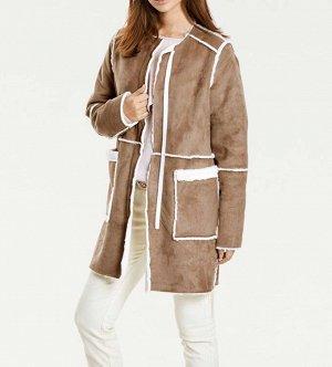 Пальто двухстороннее, бежевое