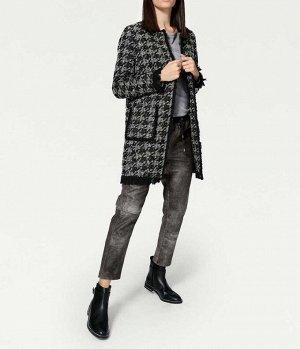 Пальто, черно-серое