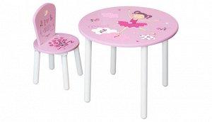 Комплект детской мебели Polini Kids Fun 185 S  Балерина , розовый