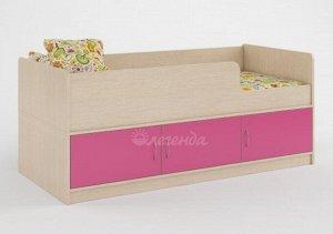 Кровать детская Легенда 35, цвет венге светлый/розовый (для детей до 12 лет) *