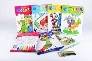 Набор для творчества Coloring Art  Ассорти кор. А4