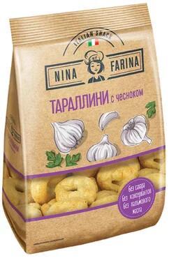 «Nina Farina», тараллини с чесноком, 180 г