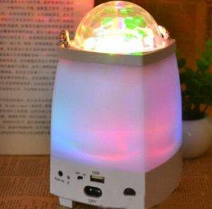 Фонарь ВНИМАНИЕ! Уценка! Не работает USB вход, можно использовать как фонарь.  Фонарь создает потрясающее сияние диско-эффекта в любой комнате, идеально подходит для вечеринок, дискотек, клуба, сцены