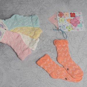 """Детские носки ажурные (узор 1) """"волны"""" milanko"""