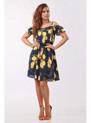 Сарафан жовті лимони Синій