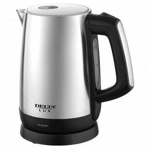 Чайник электрический 2200 Вт, 1,7 л DELTA LUX DL-1207 черный