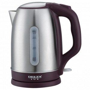 Чайник электрический 2200 Вт, 1,7 л DELTA LUX DL-1335 с окном, фиолетовый