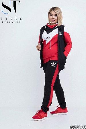 Спортивный костюм тройка 50915 (жилет+ кофта+ брюки)