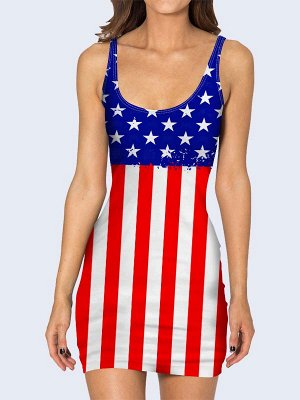 3D платье Флаг Соединенных Штатов Америки