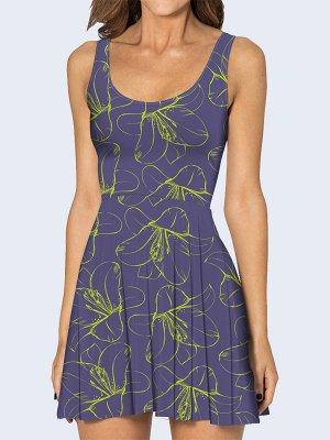 3D платье Цветок лайма
