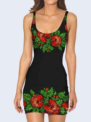3D платье Цветочный арт