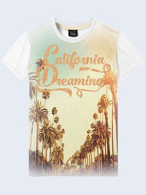 3D футболка Пальмы Калифорнии