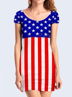 3D платье Американский флаг