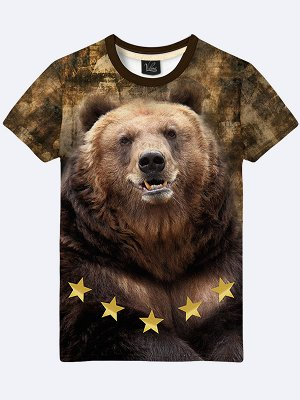 3D футболка Медведь звёзды