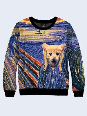 Свитшот Munch Skrik cat