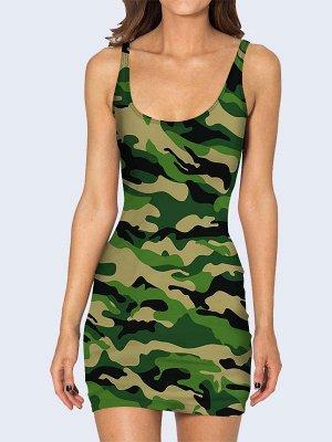 3D платье Камуфляжная расцветка