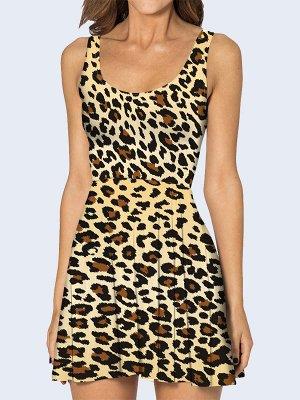 3D платье Леопардовые пятна