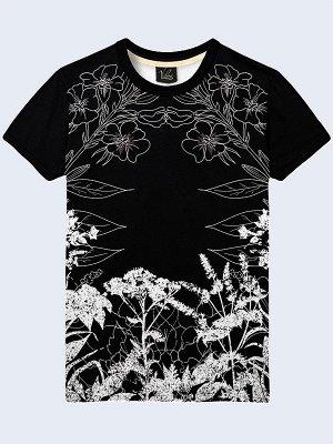 3D футболка Белые полевые цветы