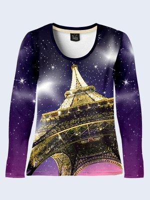 Лонгслив Париж Эйфелева башня