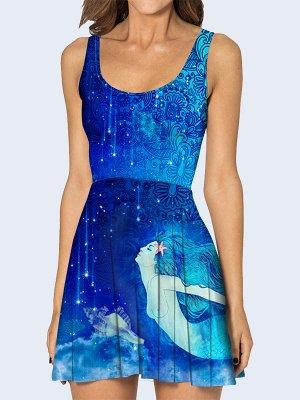 3D платье Синяя русалка