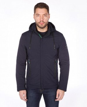. Синий; Темно-синий;    Куртка EUN 1708 Стильная молодежная куртка. Два боковых кармана на молниях + два боковых кармана на клепках, два внутренних кармана на молниях, отстегивающийся капюшон, регу