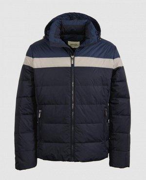 . Синий; Бордовый;   Пуховик мужской 57264  Два наружных кармана, три внутренних кармана на молниях, отстегивающийся капюшон, регулируемая кулиса по низу куртки, трикотажный теплоудерживающий манж