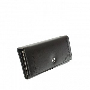 Стильный женский кошелек Guool из эко-кожи черного цвета.