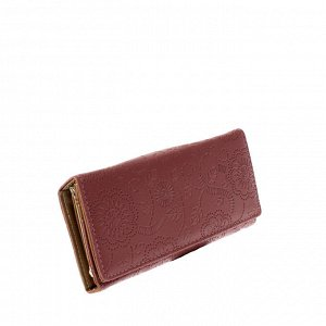 Стильный женский кошелек Tiner_Flow из эко-кожи цвета розовой пудры.