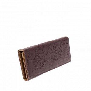 Стильный женский кошелек Tiner_Flow из эко-кожи цвета фиолетовой пудры.