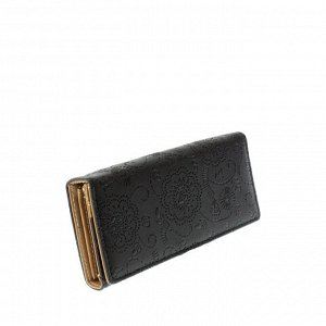 Стильный женский кошелек Tiner_Flow из эко-кожи черного цвета.