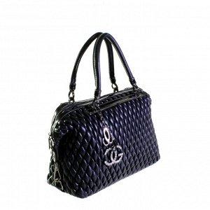 Стильная женская сумочка Tinel_Berrol из эко-кожи черного цвета.