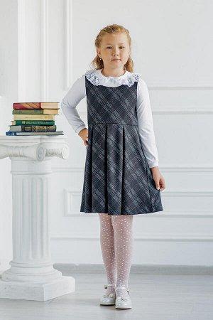 Сарафан в клетку серый в школу - Dress Code
